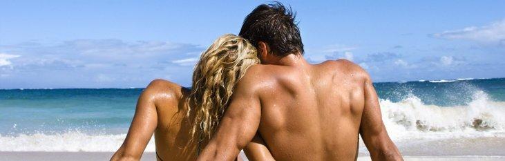strand, zee, vakantie, koppel